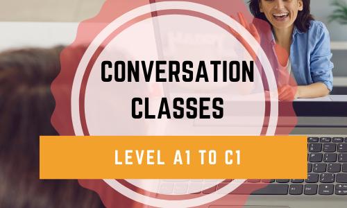 1 MONTH OF CONVERSATION CLASS + OFFLINE COURSE